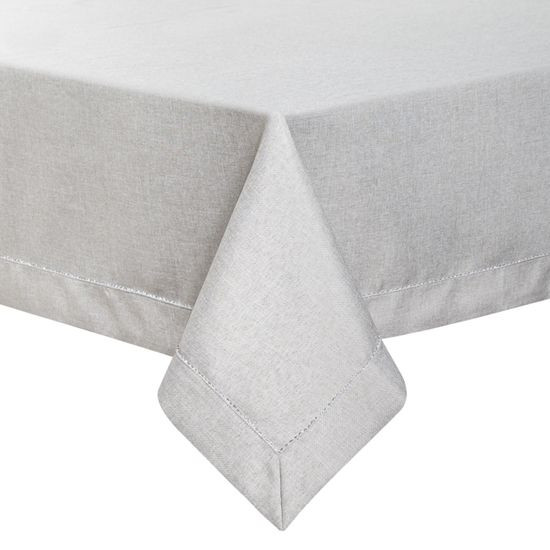 Minimalistyczny srebrny obrus do jadalni 150x300 cm - 150 x 300 cm