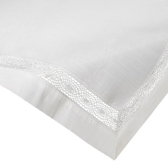 Biały obrus na stół do jadalni z mereżką 85x85 cm - 85 X 85 cm