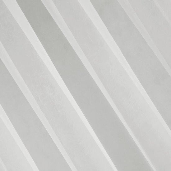 Firana nowoczesna zwiewna 140 x 250 cm na szelkach kremowa  - 140 X 250 cm - kremowy