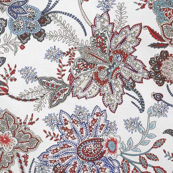 Komplet pościeli satyna bawełniana 220x200+2szt. 70x80 nowoczesny kwiatowy wzór  - 220x200