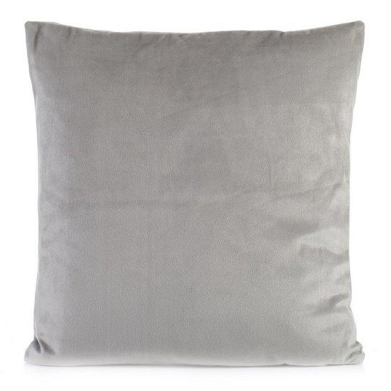 Poszewka na poduszkę gładka srebrna 40 x 40 cm  - 40x40 - srebrny