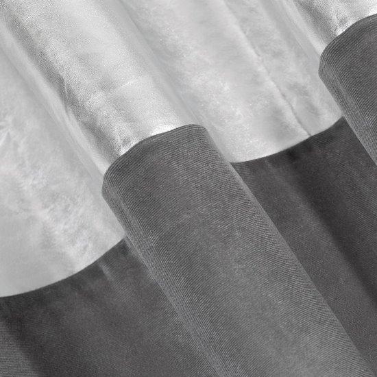 Zasłona welwetowa glamour 140 x 250 cm na przelotkach szara srebrna  - 140 X 250 cm