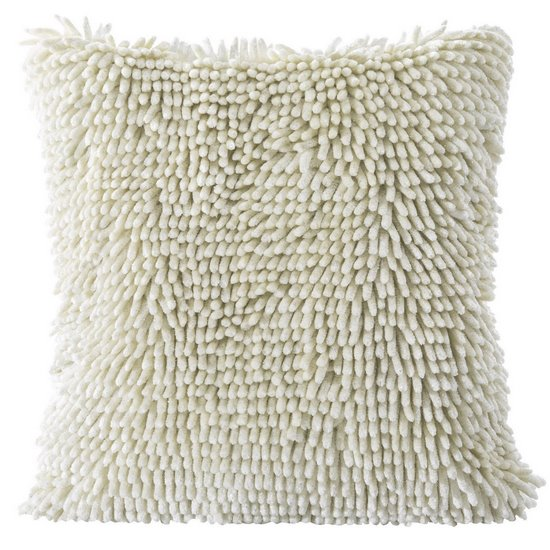 Poszewka na poduszkę włosie shaggy kremowa 40 x 40 cm  - 40 X 40 cm