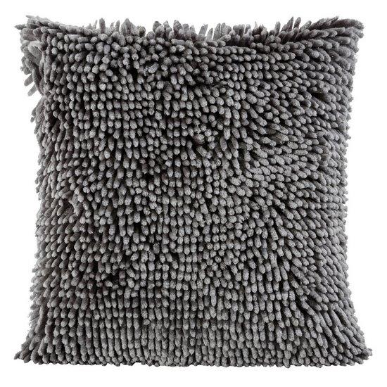 Poszewka na poduszkę włosie shaggy stalowoszara 40 x 40 cm  - 40 X 40 cm - stalowy