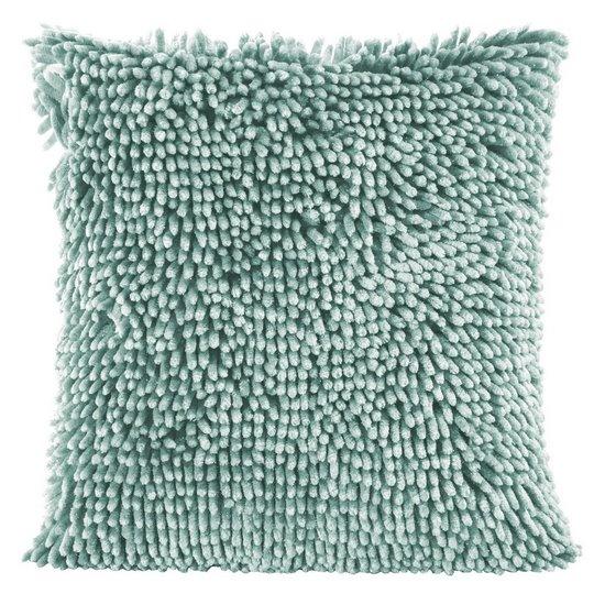 Poszewka na poduszkę włosie shaggy miętowa 40 x 40 cm  - 40 X 40 cm