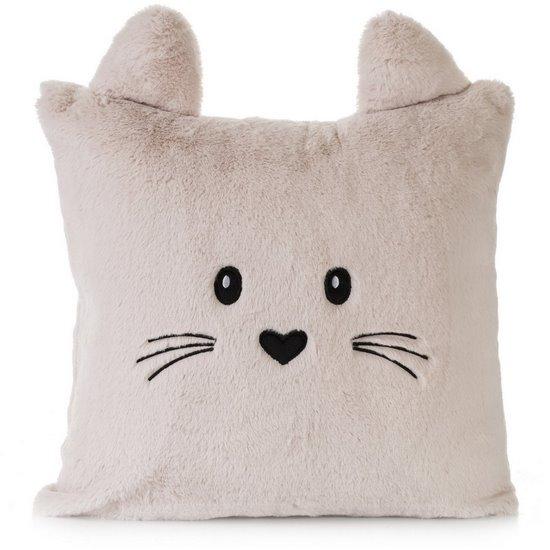 Poszewka na poduszkę 45 x 45 cm zwierzątko z uszkami różowa - 45x45