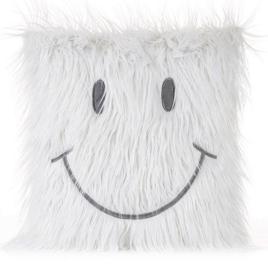 Poszewka na poduszkę futerko uśmiech 45 x 45 cm - 45 X 45 cm