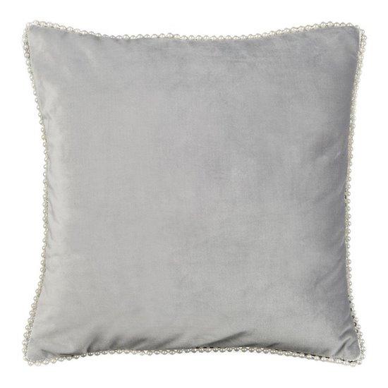 Poszewka na poduszkę 40 x 40 cm srebrno biała  - 40x40