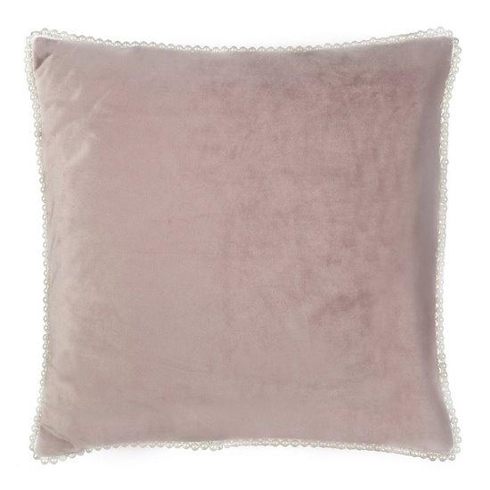 Poszewka na poduszkę 40 x 40 cm różowo biała  - 40x40