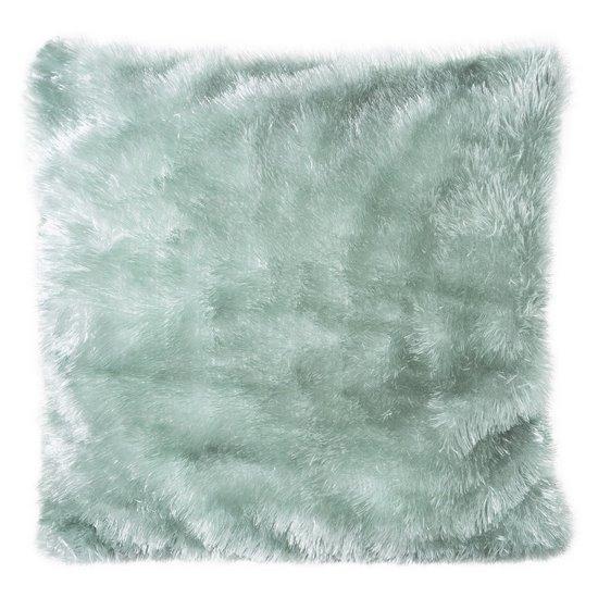 Poszewka na poduszkę futerko miętowa 40 x 40 cm  - 40 X 40 cm - miętowy