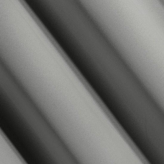 Srebrna zasłona zaciemniająca 135x270 na taśmie - 140 X 270 cm