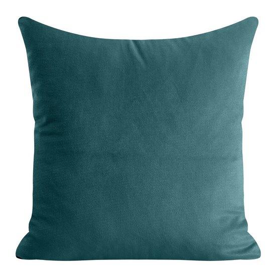 Ciemna zielona POSZEWKA OZDOBNA gładki velvet 40x40 cm - 40 X 40 cm
