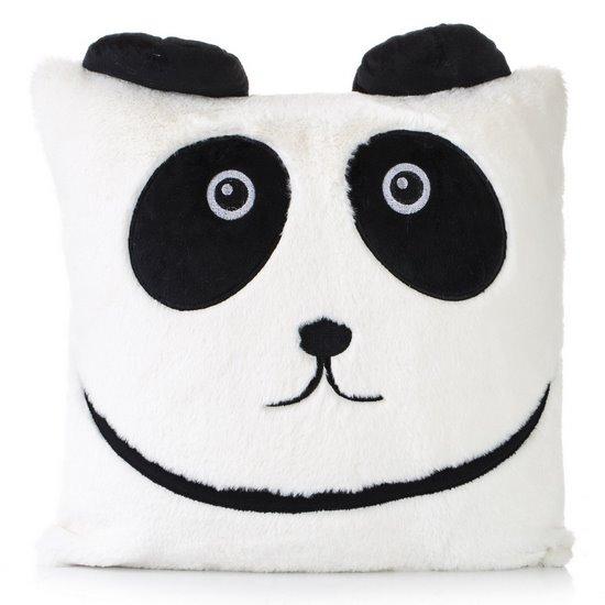 Poszewka dekoracyjna na poduszkę  45 x 45 Kolor Biały/Czarny - 45x45