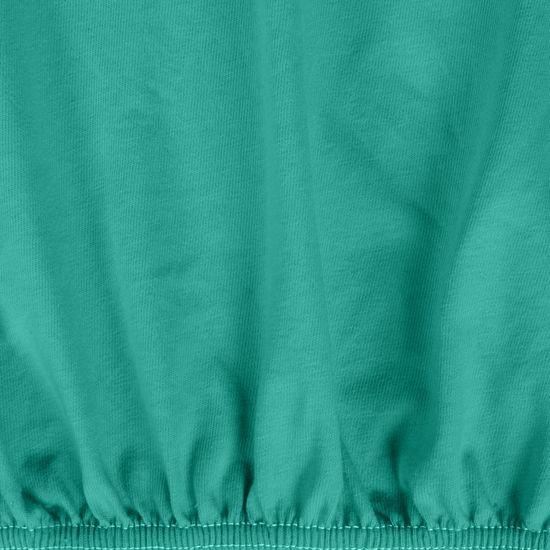 Turkusowe PRZEŚCIERADŁO BAWEŁNIANE  z jerseyu z gumką 140x200 cm - 140 X 200 cm, wys.25 cm