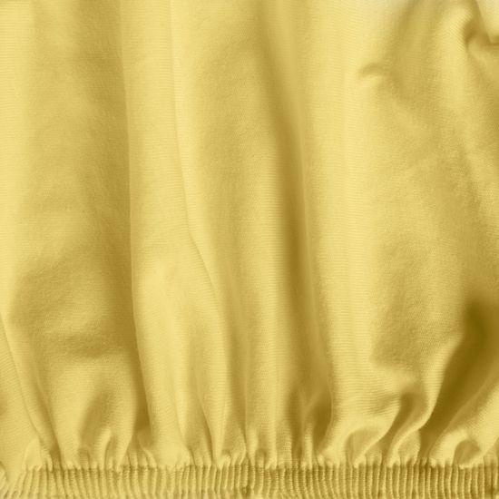 Żółte PRZEŚCIERADŁO BAWEŁNIANE  z jerseyu z gumką 140x200 cm - 140 X 200 cm, wys.25 cm