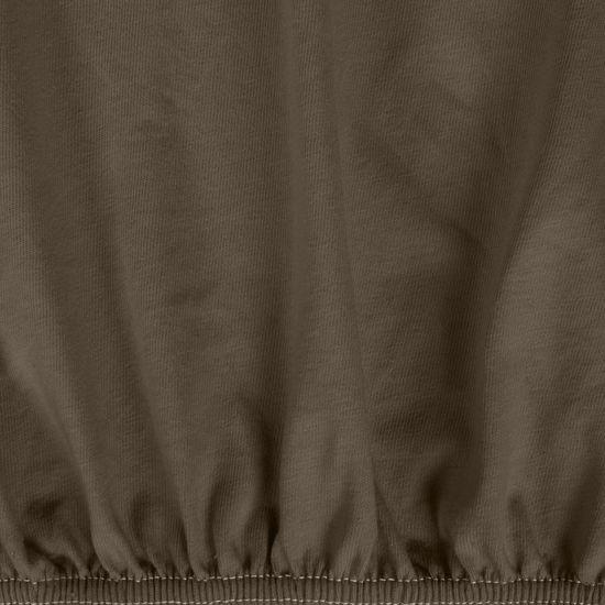 Prześcieradło bawełniane gładkie 90x200+25cm 140 kolor brązowy - 90 x 200 cm, wys.25 cm