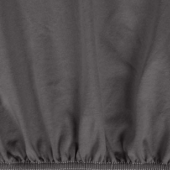 Grafitowy PRZEŚCIERADŁO BAWEŁNIANE  z jerseyu z gumką 90x200 cm - 90 x 200 cm, wys.25 cm