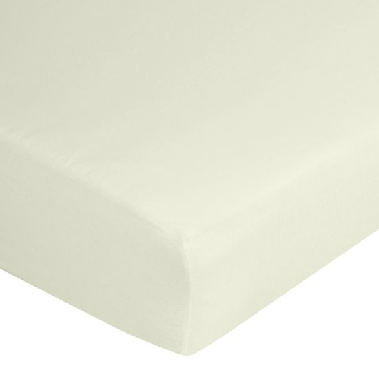 Prześcieradło bawełniane gładkie 90x200+25cm 140 kolor kremowy - 90 X 200 cm, wys.25 cm - jasnoszary