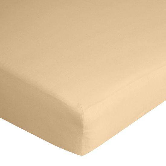Prześcieradło bawełniane gładkie 90x200+25cm 140 kolor morelowy - 90 x 200 cm - morelowy