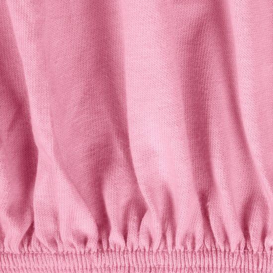 Prześcieradło bawełniane gładkie 90x200+25cm 140 kolor różowy - 90x200+25