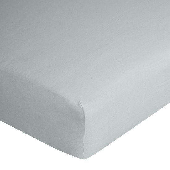 Prześcieradło bawełniane gładkie 90x200+25cm 140 kolor srebrny - 90 X 200 cm, wys.25 cm - jasnoszary