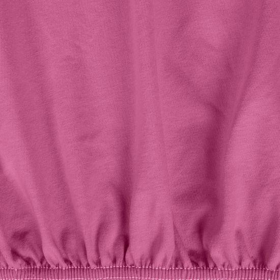 Prześcieradło bawełniane gładkie 120x200+25cm kolor amarant - 120x200+25