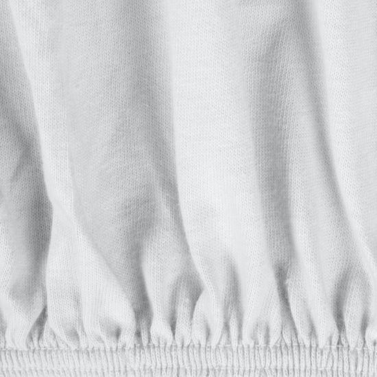 Prześcieradło bawełniane gładkie 120x200+25cm 140 kolor biały - 120x200+25