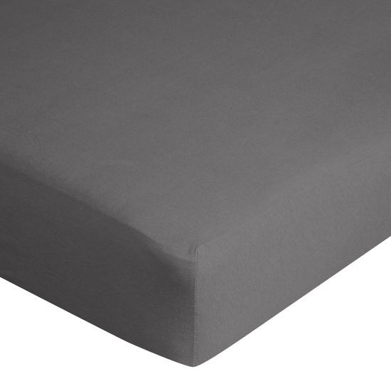 Prześcieradło bawełniane gładkie 120x200+25cm 140 kolor grafitowy - 120 X 200 cm, wys.25 cm - grafitowy