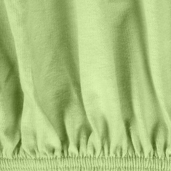 Prześcieradło bawełniane gładkie 120x200+25cm 140 kolor miętowy - 120x200+25