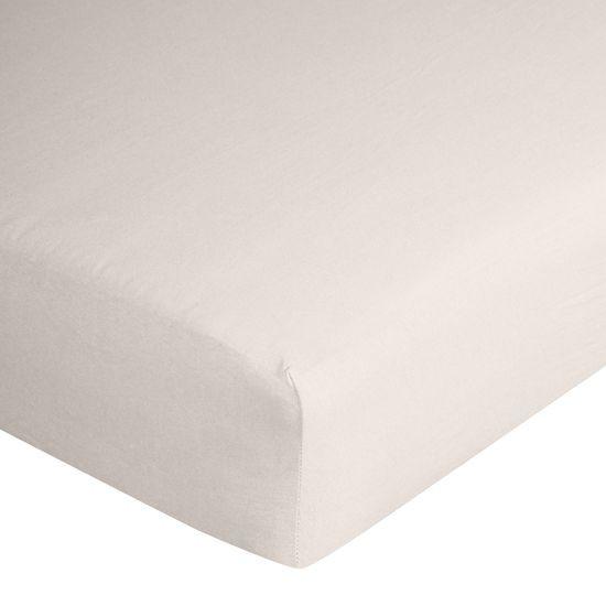 Prześcieradło bawełniane gładkie 120x200+25cm 140 kolor srebrny - 120 X 200 cm, wys.25 cm - jasnoszary