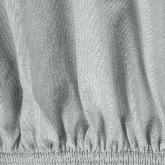 Prześcieradło bawełniane gładkie 120x200+25cm 140 kolor srebrny - 120x200+25 - srebrny