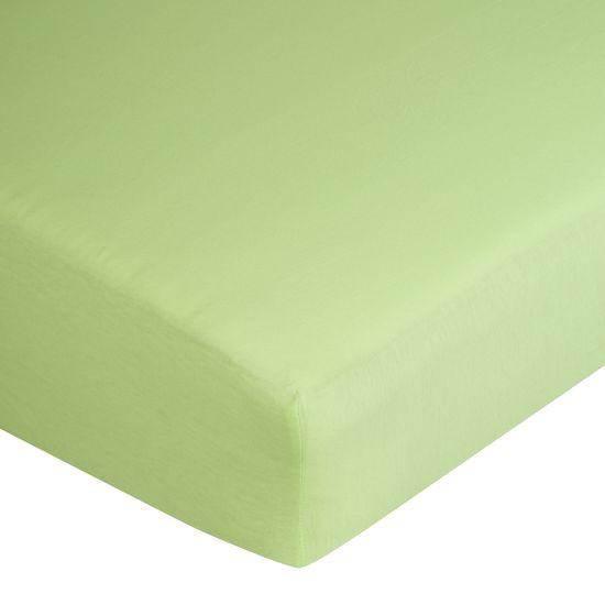 Prześcieradło bawełniane gładkie 160x200+25cm 140 kolor morelowy - 160 X 200 cm, wys.25 cm - miętowy