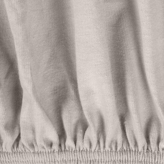 Srebrne PRZEŚCIERADŁO BAWEŁNIANE  z jerseyu z gumką 160x200 cm - 160 X 200 cm, wys.25 cm - jasnoszary