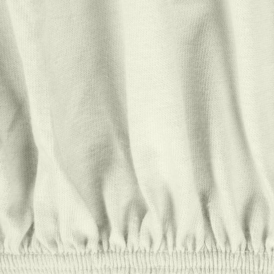 Prześcieradło bawełniane gładkie 180x200+25cm 140 kolor kremowy - 180 X 200 cm, wys.25 cm