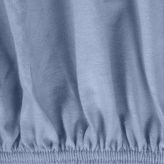 Prześcieradło bawełniane gładkie 180x200+25cm 140 kolor niebieski - 180x200+25