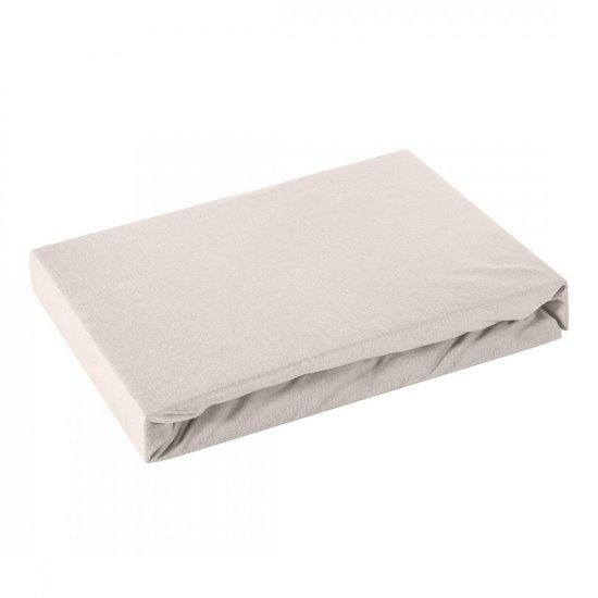 Prześcieradło bawełniane gładkie 180x200+25cm 140 kolor srebrny - 180 X 200 cm, wys.25 cm