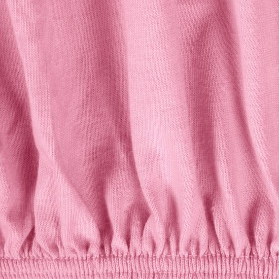 Prześcieradło bawełniane gładkie 220x200+25cm 140 kolor różowy - 220 X 200 cm, wys.25 cm