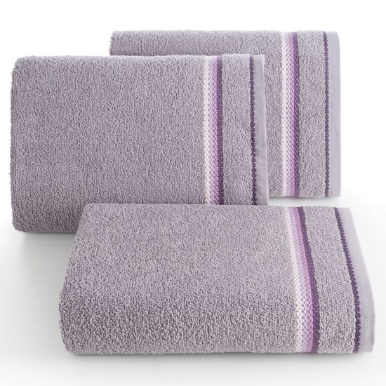 Ręcznik z tęczowym haftem na bordiurze 50x90cm - 50 X 90 cm