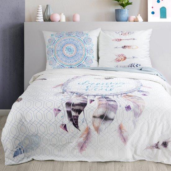 Komplet pościeli bawełnianej 220 x 200, 2 szt. 70 x 80 łapacz snów hiszpańska bawełna - 220 X 200 cm, 2 szt. 70 X 80 cm - wielokolorowy