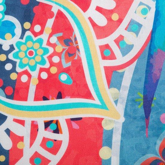 Komplet pościeli  z bawełny hiszpańskiej  160 x 200 cm, 2 szt. 70 x 80 styl boho bawełna hiszpańska - 160x200 - biały / niebieski