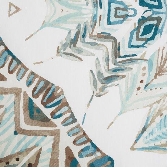 Komplet pościeli z satyny bawełnianej 160x200 cm, 2 szt. 70x80 cm nadruk indiański łapacz snów - 160x200 - biały / czerwony / pomarańczowy / żółty