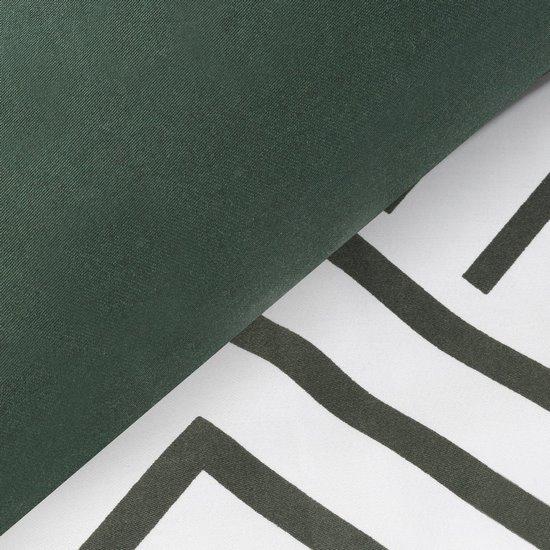 Komplet pościeli satyna bawełniana 160x200+2szt. 70x80 z geometrycznym nadrukiem w stylu opt art - 160x200 - biały, czarny