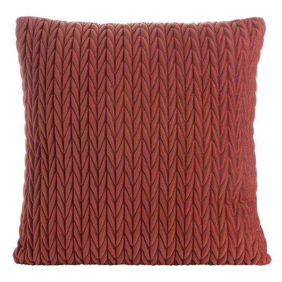 Poszewka na poduszkę 45 x 45 cm z oryginalnym motywem plecionki pomarańczowa - 45 X 45 cm