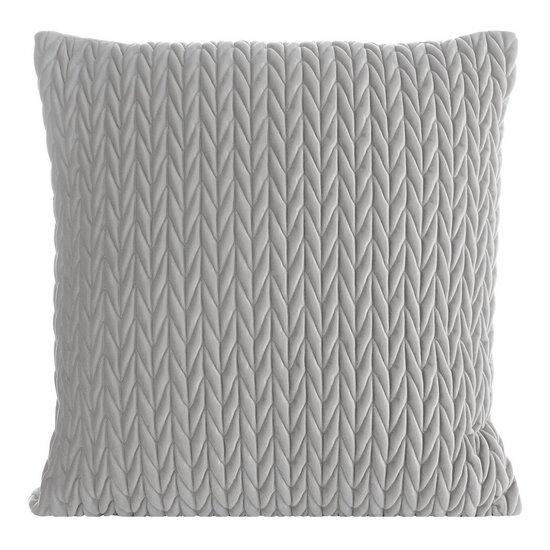 Poszewka na poduszkę 45 x 45 cm z oryginalnym motywem plecionki srebrna - 45 X 45 cm - srebrny