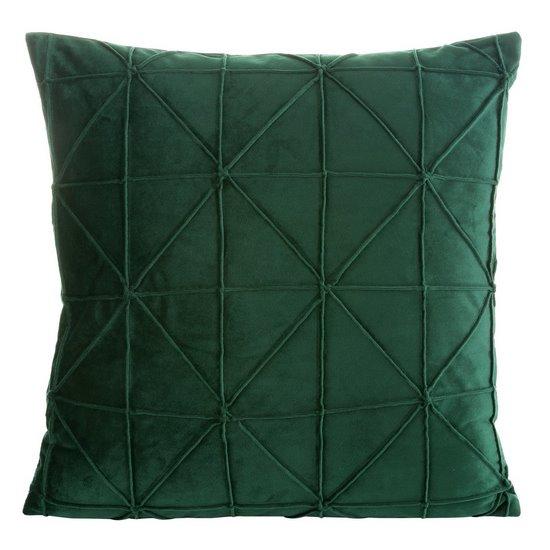 Ciemna zielona welwetowa poszewka z efektem 3D 45x45 cm - 40 X 40 cm