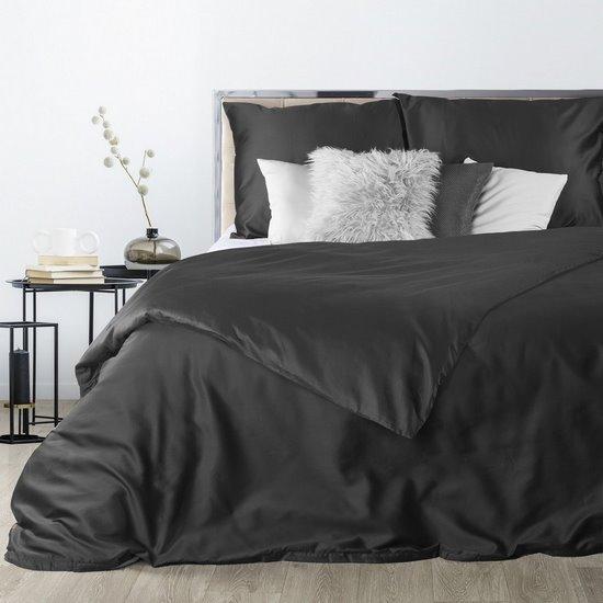 Komplet pościeli z makosatyny bawełnianej 180 x 200 cm, 2szt. 70 x 80 cm, czarny - 180 X 200 cm, 2 szt. 70 X 80cm