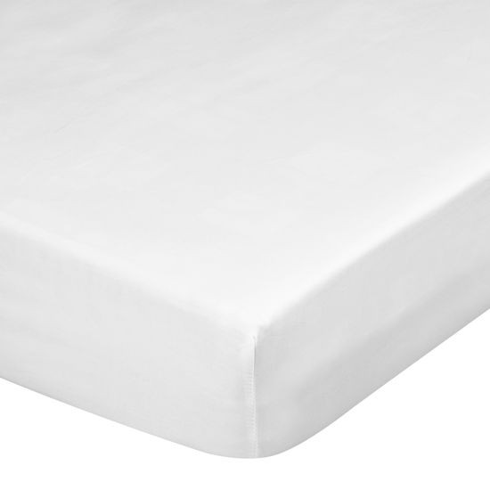 Prześcieradło z makosatyny gładkie 140x200+30cm kolor biały - 140 X 200 cm, wys.30 cm