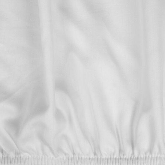 Prześcieradło z makosatyny gładkie 220x200+30cm kolor biały - 220 X 200 cm, wys.30 cm - biały