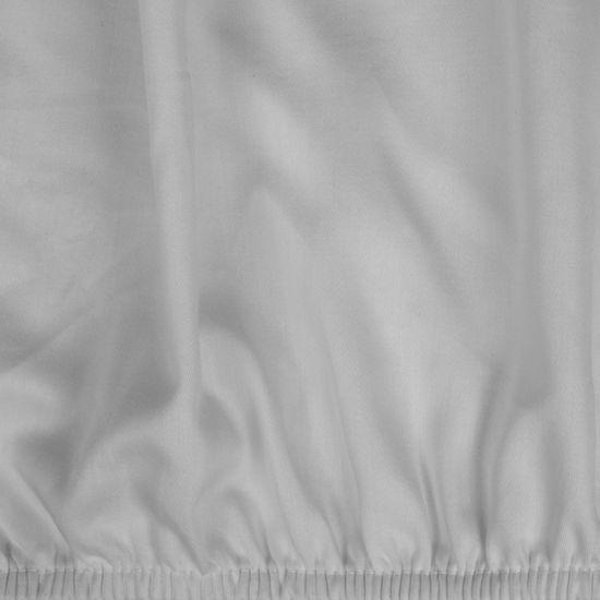 Prześcieradło Z Makosatyny Gładkie 180X200+30CM kolor Srebrny - 180x200+30
