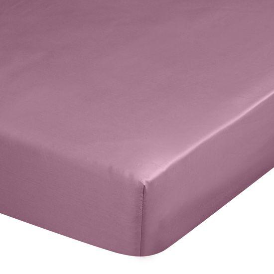 Prześcieradło z makosatyny gładkie 140x200+30cm kolor różowy - 140 X 200 cm, wys.30 cm